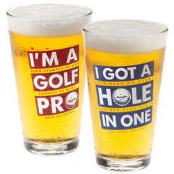 Read Between the Lines Golf Beer Pint Glass