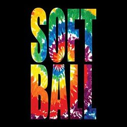 Tie Dye Softball T-Shirt