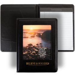 Believe & Succeed Inspirational Beach Scene Jr. Padfolio