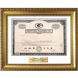 Custom Frame for Green Bay Packers Stock
