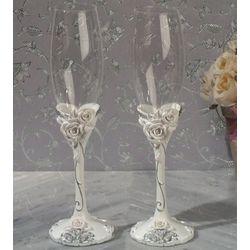 Elegant Rose Flutes