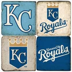 Kansas City Royals Tumbled Italian Marble Coasters