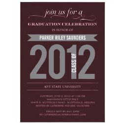 Charming Ribbon Graduation Party Invitation