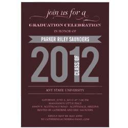 Charming Ribbon Graduation Party Invitation