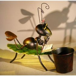 Ant Garden Pot Decoration with Movable Head