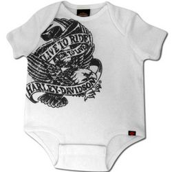 Harley Davidson Live to Ride Newborn and Infant Creeper