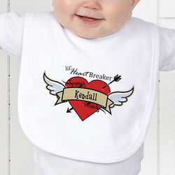 Heartbreaker Personalized Baby Bib