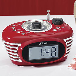 Retro Clock Radio and MP3 Player