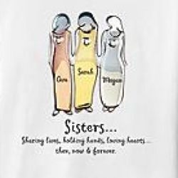 Sisters or Friends Relationship Personalized T-Shirt