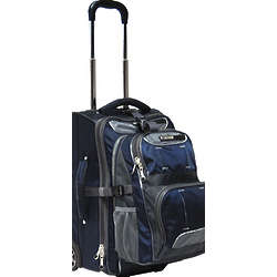 Fushion Navy Blue Rolling Backpack Suitcase Combo