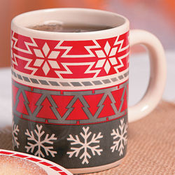 Ceramic Christmas Snowflake Coffee Mug