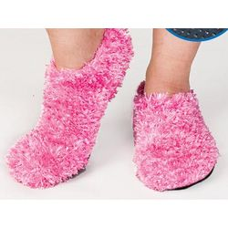 Pink Fuzzy Footies
