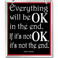 Everything Will Be OK Inspiration Lyrics Suncatcher