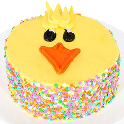 Easter Chick Specialty 6 Inch Chocolate Cake