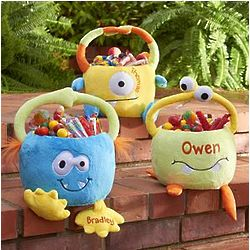 Personalized Plush Monster Basket