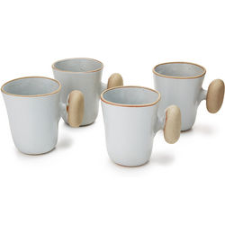 Ceramic Stone Handle Mugs Set