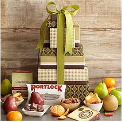 Fruits, Cheeses and Snacks Gift Tower