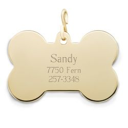 Bone Shaped Dog Tag