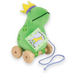 Velour Frog Pull Toy