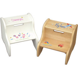 Personalized Large Fixed Child's Step Stool