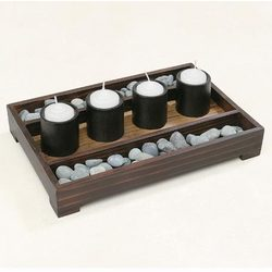 Rock Garden Candle Holder