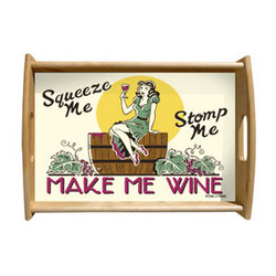 Make Me Wine Serving Tray