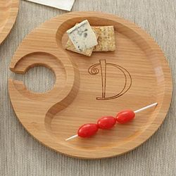 Bamboo Elegance Cocktail Party Plates with Monogram