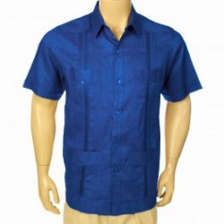 Short Sleeve Linen Guayabera Shirt