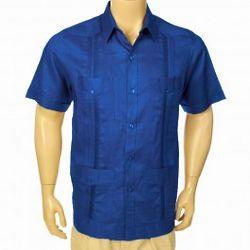 Short Sleeve Linen Guayabera Shirt