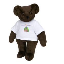 "Happy 1st Birthday Cake 15"" T-Shirt Teddy Bear"