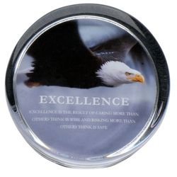 Excellence Eagle Positive Outlook Paperweight