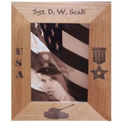 Personalized Laser Engraved Alder Wood Photo Frame