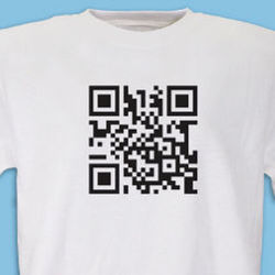 Personalized QR Barcode T-Shirt