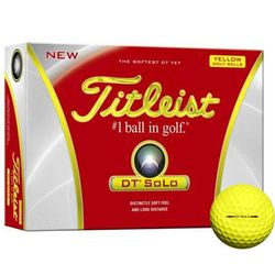 Yellow Solo Personalized Golf Balls