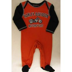 Harley Davidson Newborn Footed Coverall