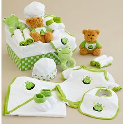 Little Froggy New Baby Basket
