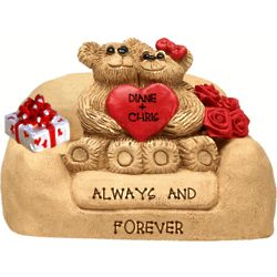 Bear Couple on Loveseat Personalized Figurine