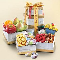 Happy Birthday Fruit and Fun Gift Tower