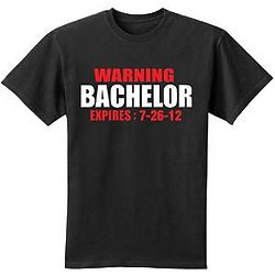 Personalized Warning Bachelor or Bachelorette T-Shirt