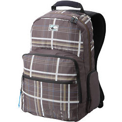 Men's Brown Plaid Hammer Rolling Suitcase