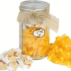 Hot Toddy Candy Filled Mason Jar