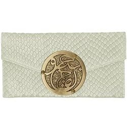 Le Petite Prosperity Icon Snakeskin Embossed Leather Clutch