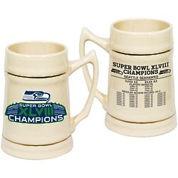 Seattle Seahawks Super Bowl XLVIII Champions Ceramic Stein