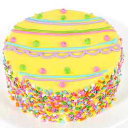 Easter Egg Specialty 6 Inch Vanilla Cake