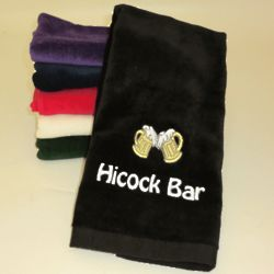 Personalized Bar Hand Towel