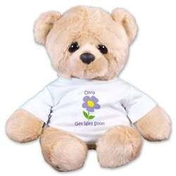 Personalized Get Well Soon Woe Teddy Bear
