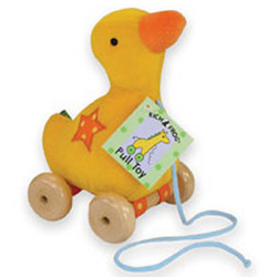 Velour Duck Pull Toy