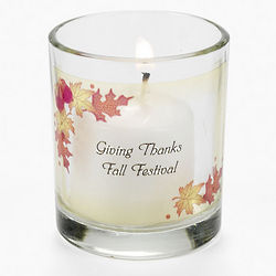 Personalized Thanksgiving Votive Candleholders