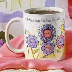 Personalized Grandma Flower Garden Mug