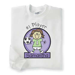 Personalized Sports Character Youth Sweatshirt